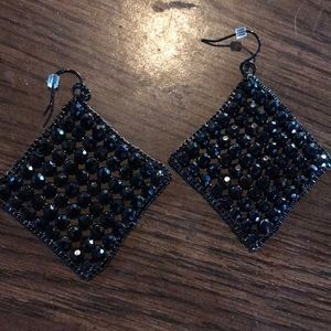 Jewelry - Black rhinestone earrings sparkles